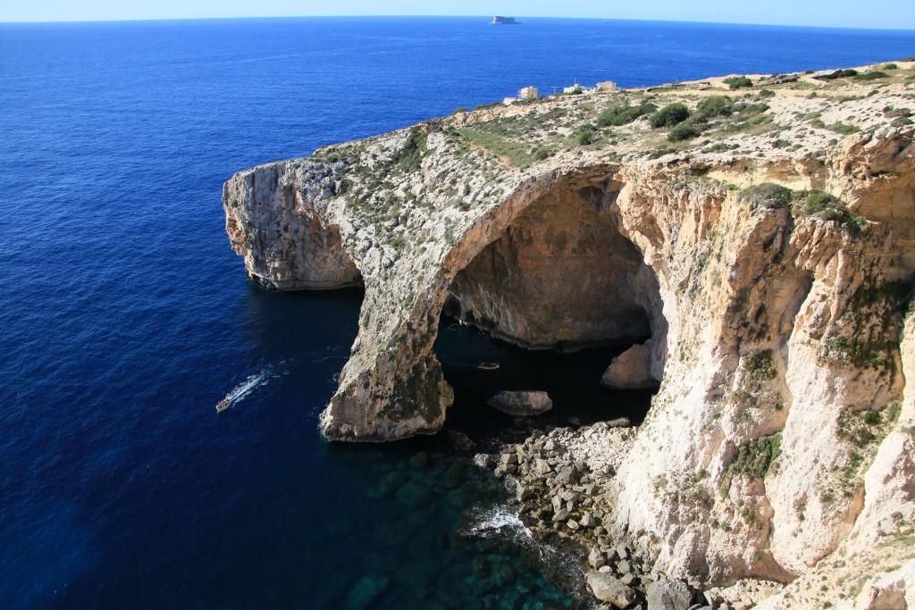 Malta: Die Blaue Grotte by ulrich-berens.de.
