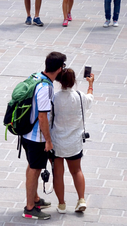 Selfie-Paar